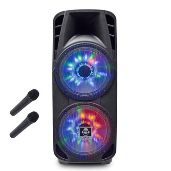 iDance Groove 980 Rechargeable Bluetooth All In One Party System with Disco Lighting and 2 Wireless Mics