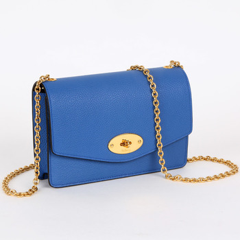 Mulberry Small Blue Darley Clutch Bag