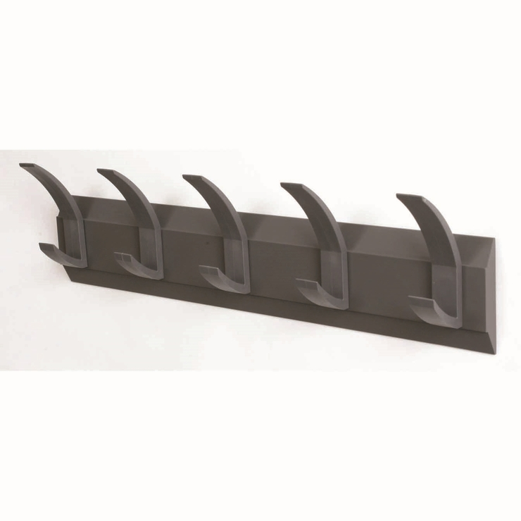 Grid Coat Rack In Office Accessories: Acorn Wall Mounted 5 Hook Coat Rack