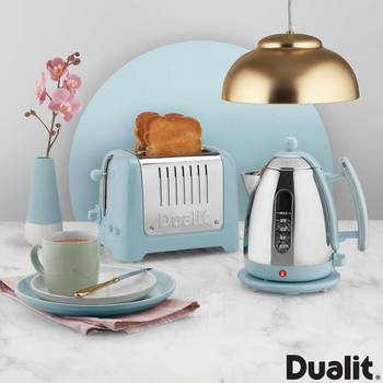 Dualit Lite Kettle and Toaster Set in Blue Sky