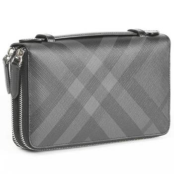 Burberry London Check Zip Around Wallet