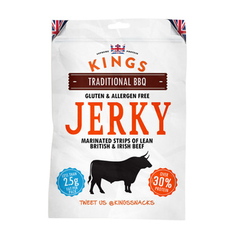 Kings Beef Jerky - Traditional BBQ Flavour, 16 x 35g