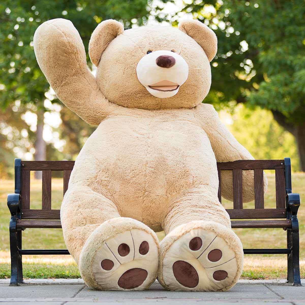 Blue Big Teddy Bear, Hugfun 93 236cm Plush Sitting Bear 3 Years Costco Uk
