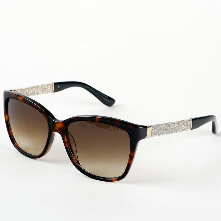 Jimmy Choo Havana & Gold Sunglasses with Brown Lenses ...