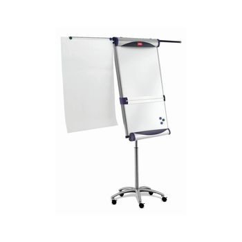 Nobo Piranha Mobile Flipchart / Drywipe Easel with Side Arms