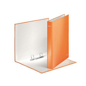 Leitz A4 Plus Orange 25mm 2D-Ring Binder - Pack of 10