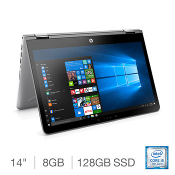 HP Pavilion x360 14-ba031na, Intel Core i5, 8GB RAM, 128GB Solid State Drive, 14 Inch Convertible Notebook