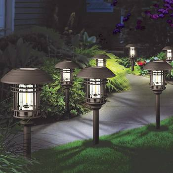 GTX Large Vintage Solar Pathway Lights (8 Pack)