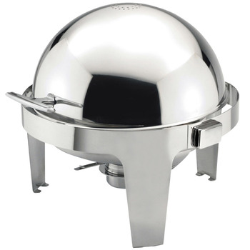 Sunnex 6.8 Litre Round Roll Top Chafing Dish, Stainless Steel