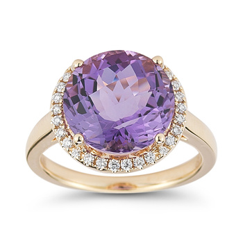 6.00ct Lilac Amethyst and 0.20ctw Diamond Ring, 18ct Rose Gold