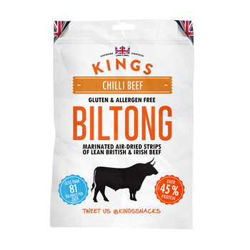 Kings Beef Biltong - Chilli Beef Flavour, 16 x 30g