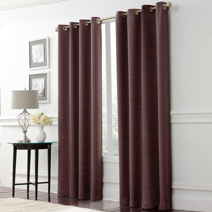 Lunoir Blackout Curtains In Brown, L 229 X W 133 Cm