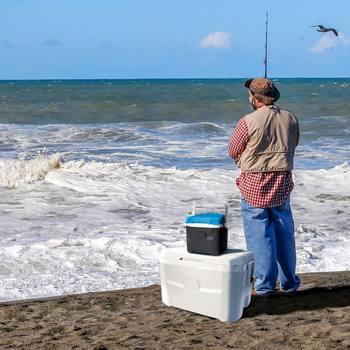 62 US Quart Rolling Cool Box Ice Cooler Igloo Maxcold Latitude 58 Litre