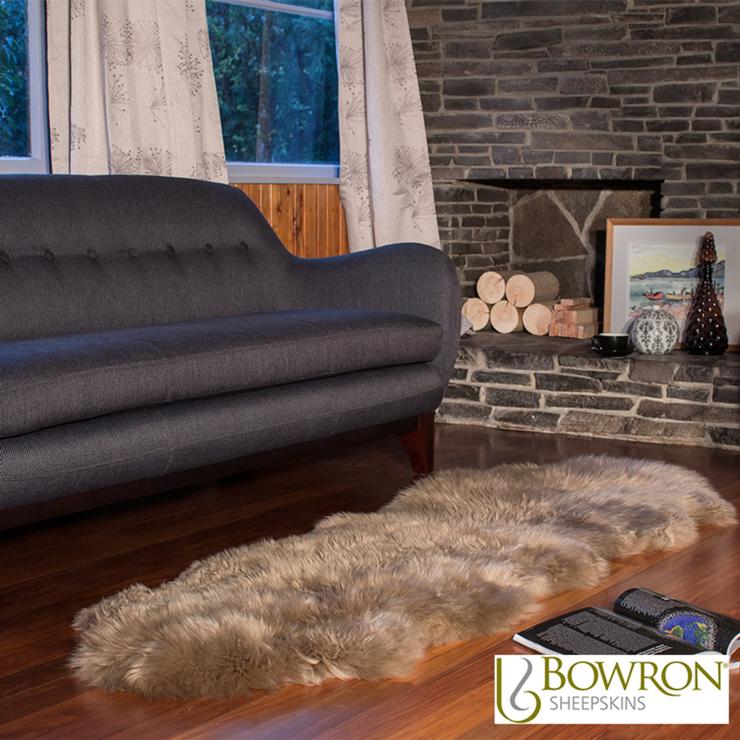 Bowron Longwool Sheepskin Rug In 5 Colours 3 Sizes