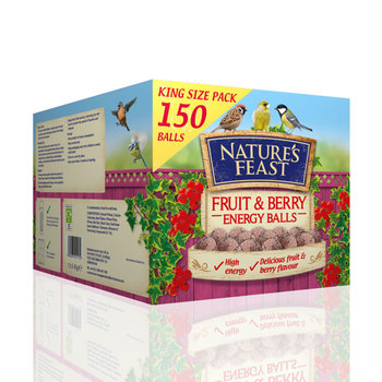 Nature's Feast Fruit and Berry Energy Balls, 150 Pack