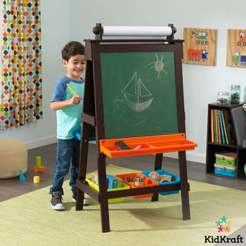 KidKraft Storage Art Easel in Espresso (3+ Years)