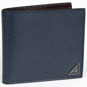Prada Men's Navy Leather Wallet