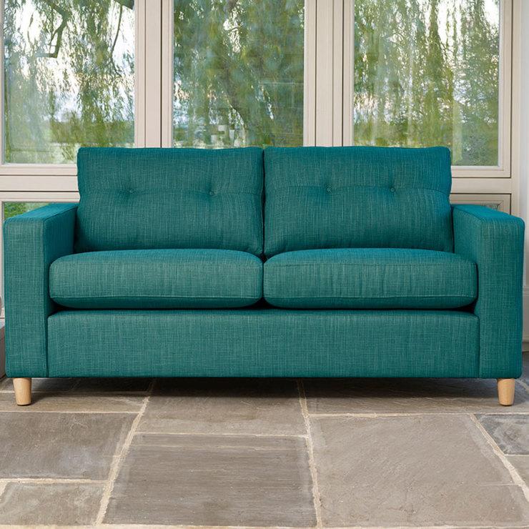 Metro 3 Seater Fabric Sofa, Teal