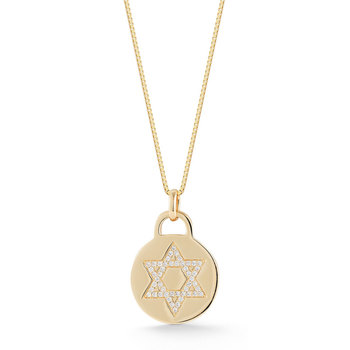 0.18ctw Diamond Star of David Pendant, 18ct Yellow Gold