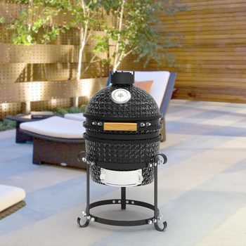"Pit Boss 13.5"" (34.3cm) Kamado Grill Ceramic BBQ in Black"