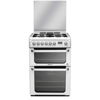 Hotpoint HUD61PS Dual Fuel Cooker, 110 Litre