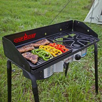 Camp Chef Explorer 2 Burner Camp Stove with Griddle