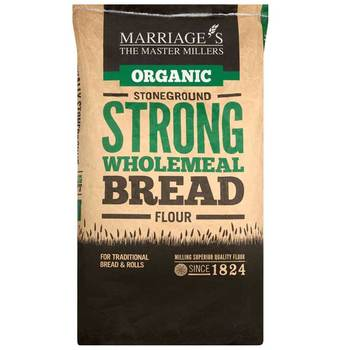 Marriage's Organic Strong Wholemeal Bread Flour, 16kg
