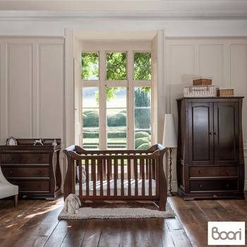 Boori Sleigh 4 Piece Nursery Room Set in English Oak