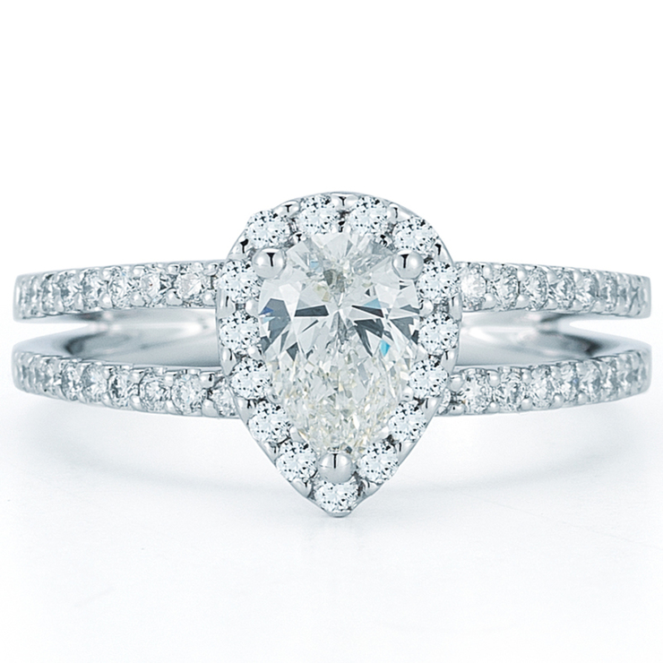 93d192f72ad4 1.17ctw Pear Shape Diamond Engagement Ring