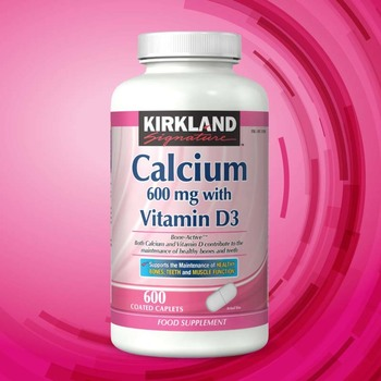 Kirkland Signature Calcium 600mg with Vitamin D3, 600 Coated Caplets (20 Months Supply)