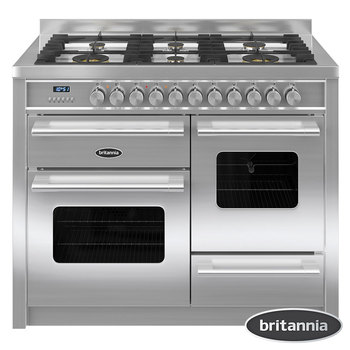 Britannia Delphi 110 XG Dual Fuel Range Cooker in Stainless Steel