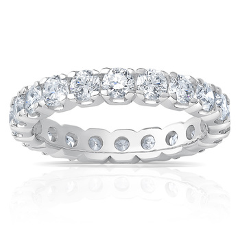 2.00ctw Round Brilliant Cut Claw Set Eternity Ring,in 6 Sizes