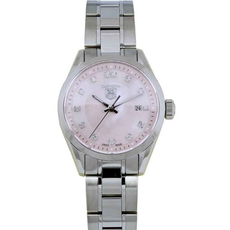 Tag Heuer Uk >> Tag Heuer Carrera Ladies Watch With Diamonds Wv1417 Ba0793