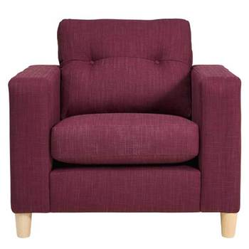 Metro Fabric Armchair, Purple