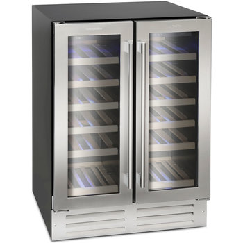 Montpellier WS38DDX, 38 Bottle DualZone Wine Cooler in Stainless Steel