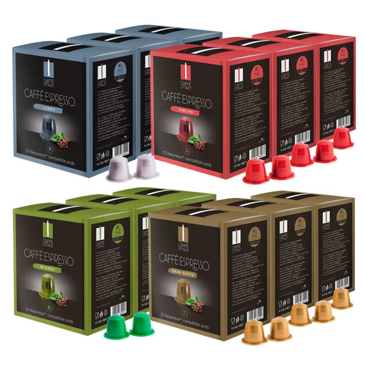 caffe ottavo nespresso compatible coffee pods 120. Black Bedroom Furniture Sets. Home Design Ideas