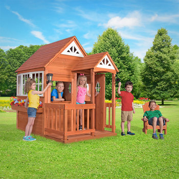 Backyard Discovery Deluxe Cedar Mansion Playhouse (3-10 Years)