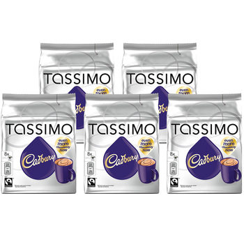 Tassimo Cadbury Hot Chocolate Pods, 40 Servings