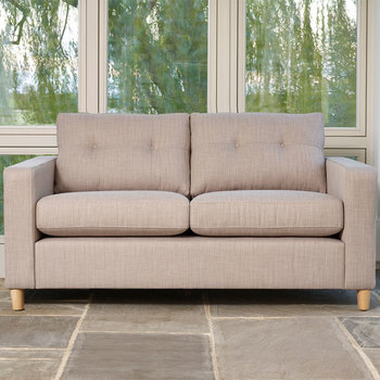 Metro 2 Seater Fabric Sofa, Linen