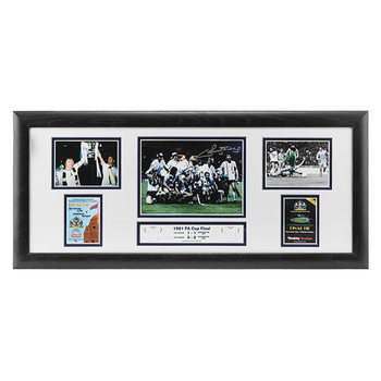 Ricky Villa Signed Framed Tottenham 1981 FA Cup Final Storyboard