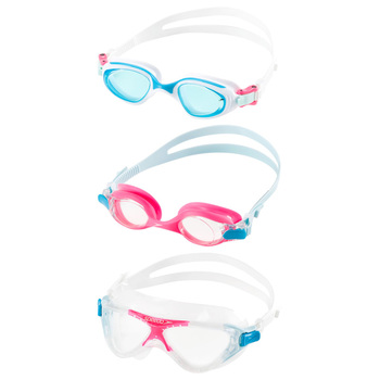 Speedo Goggles 3 Pack, Junior Size in 2 Colours
