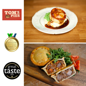Tom's Pies Lamb & Steak Pie Selection, 12 x 260g (Serves 12 people)