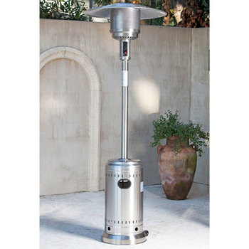 FireSense Gas 40,000 BTU Commercial Patio Heater in Stainless Steel