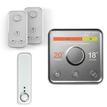 Hive V2 Active Heating Wireless Thermostat with Professional Installation, 2 x Hive Active Plugs and Hive Motion Sensor