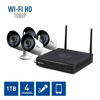 Swann NVK4-485KH Wireless Full HD 4 Channel Wifi Recorder with 4 x Full HD NVW-485 Wifi Cameras