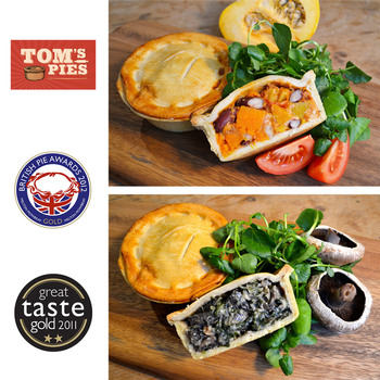 Tom's Pies Vegetarian Pie Selection, 12 x 260g (Serves 12 people)