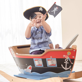 Teamson Kids Rocking Wooden Pirate Ship (3+ Years)