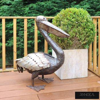"Pangea 2ft 8"" (81.3cm) Pelican Ornamental Metal Structure - Life Size"