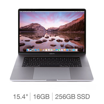2017 MacBook Pro Retina with Touch Bar, Intel Core i7, 16GB RAM, 256GB Solid State Drive, 15.4 Inch Notebook in 2 Colours