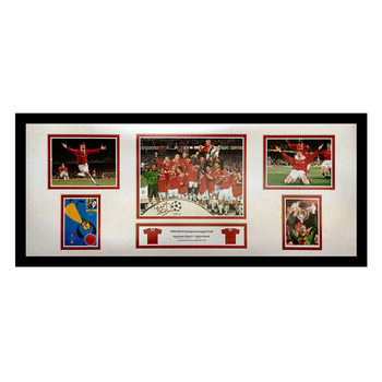 Teddy Sheringham Signed Framed Champions League Final Storyboard